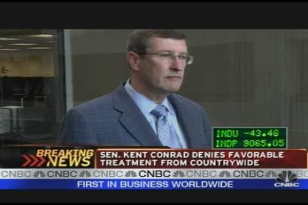 Sen. Conrad Denies Countrywide Favors