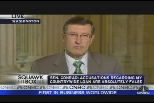 Sen. Conrad on Healthcare, Countrywide Allegations