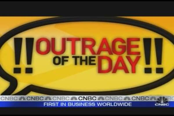Outrage of the day