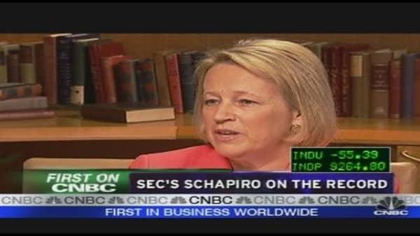 SEC's Schapiro on the Record