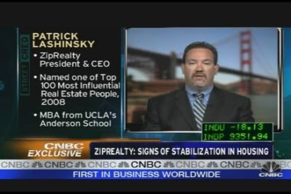 ZipRealty: Signs of Stabilization in Housing
