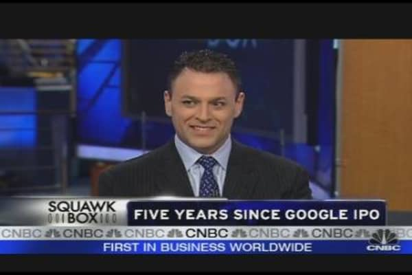 Google's Five Year IPO Anniversary