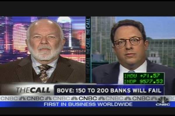 Bove: 150 to 200 Banks Will Fail
