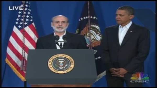 Obama Reappoints Bernanke