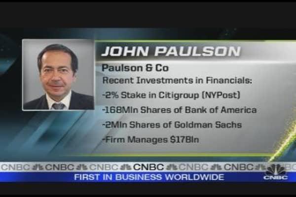 Paulson Replacing Buffett?