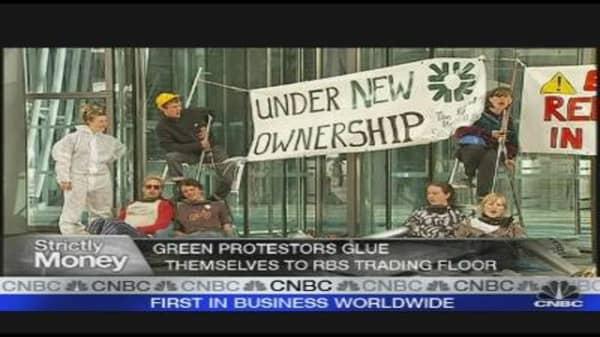 Protesters Take on RBS, Edelman PR