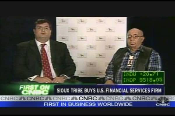 Sioux Tribe Buys US Financial Services Firm