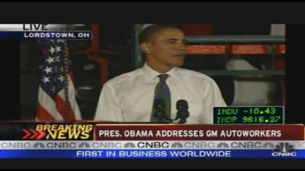 President Obama Addresses US Autoworkers