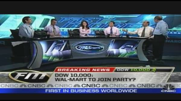 Dow 10,000: Wal-Mart to Join Party?