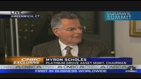 Myron Scholes on the Markets