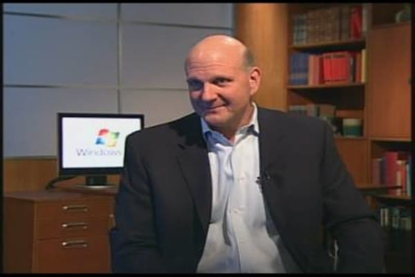Ballmer on Windows 7, MSFT