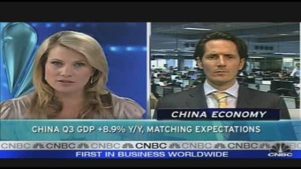 China Q3 GDP Rises 8.9% y/y