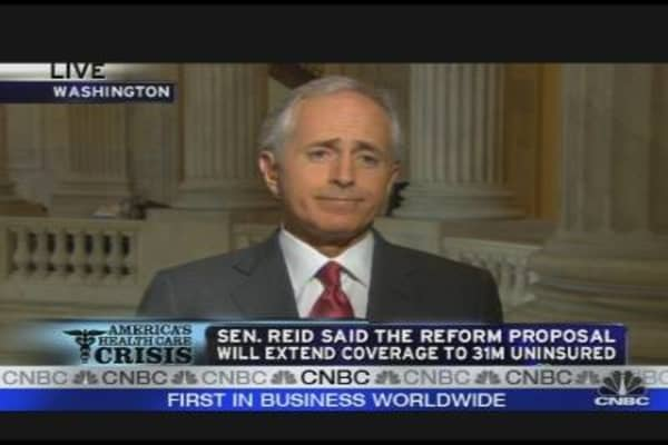 Sen. Corker Reacts to Senate Health Plan
