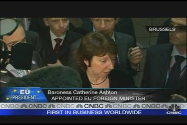Baroness Ashton Appointed EU Foreign Minister