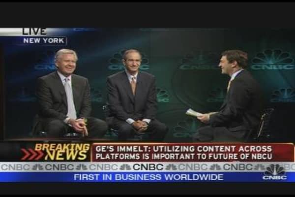 Immelt, Roberts Discuss NBCU Deal