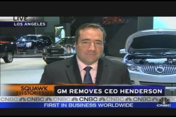 GM Removes CEO Henderson