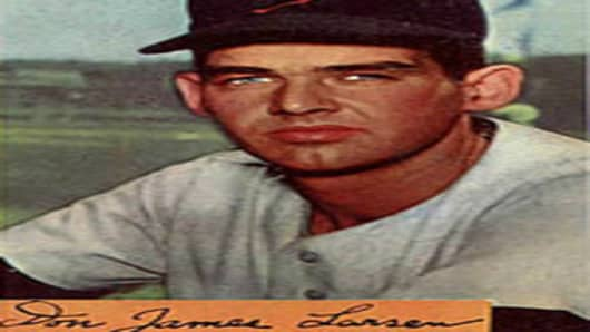 Don Larsen Baseball Card.