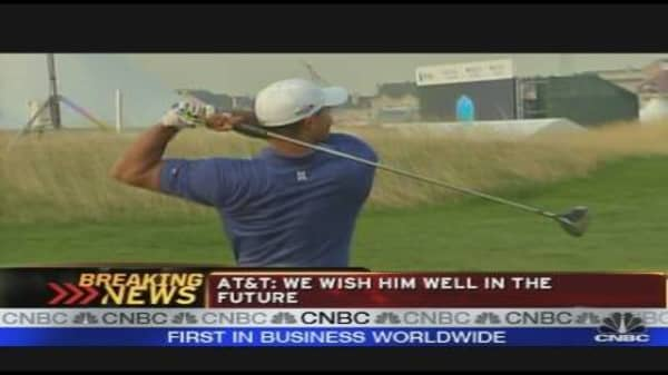 AT&T Drops Tiger as Spokesman