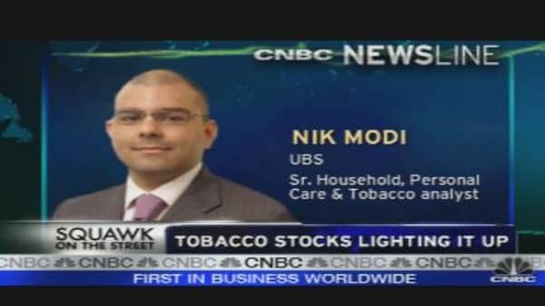 Tobacco Stocks Smokin' Hot