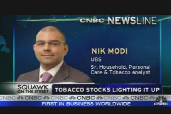 Tobacco Stocks Smokin' Hot