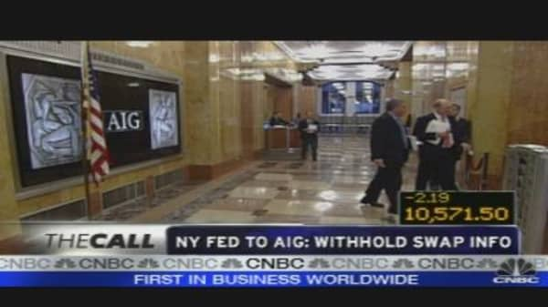 NY Fed to AIG: Withhold Swap Info