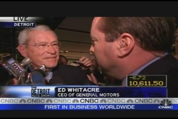 GM's Whitacre at Detroit Auto Show