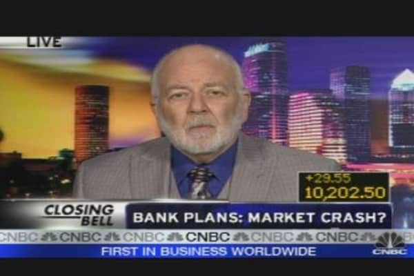 Bank Plans: Market Crash?