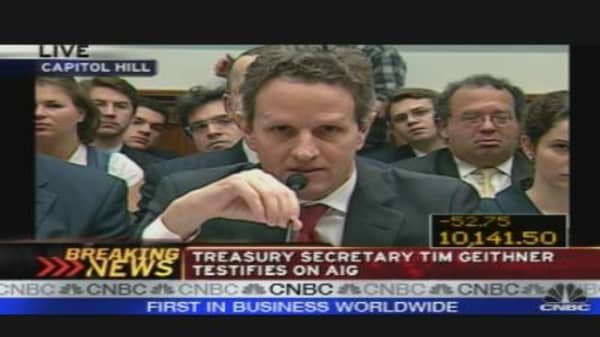 Geithner Opening Statement at AIG Hearing