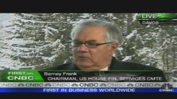 US Rep. Barney Frank on Bernanke, Regulation