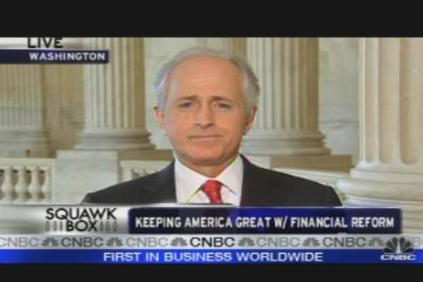 Sen. Corker on Financial Regulatory Reform