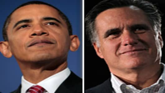 President Barack Obama and Mitt Romney