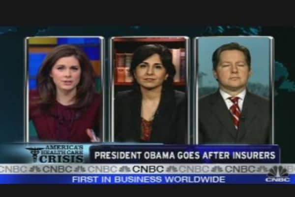 Obama Goes After Insurers