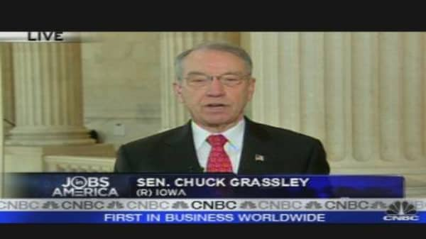 Grassley on Jobs, Health Care
