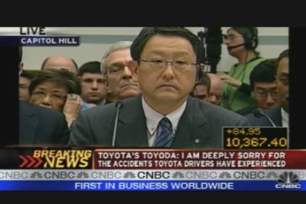 Toyota CEO Addresses Congress