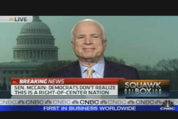McCain on Politics, Economy & Health Care