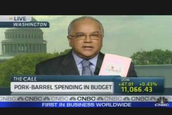 Spotlight on Pork-Barrel Spending In Federal Budget