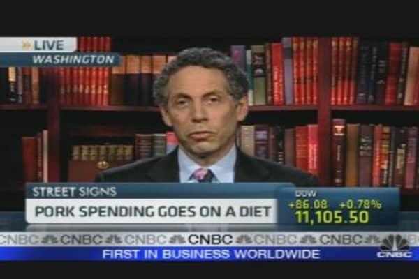 Pork Spending Falls