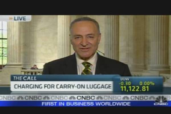 Schumer Trying to Prohibit Carry-On Luggage Fee