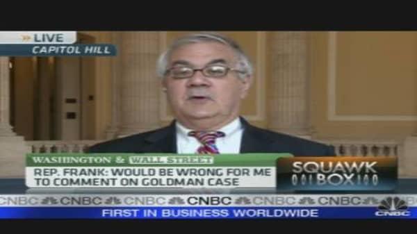 Barney Frank on Goldman Fallout & Financial Reform
