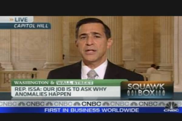 Rep. Issa Questions Timing of SEC Charges