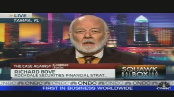Bove Grades Goldman Hearing