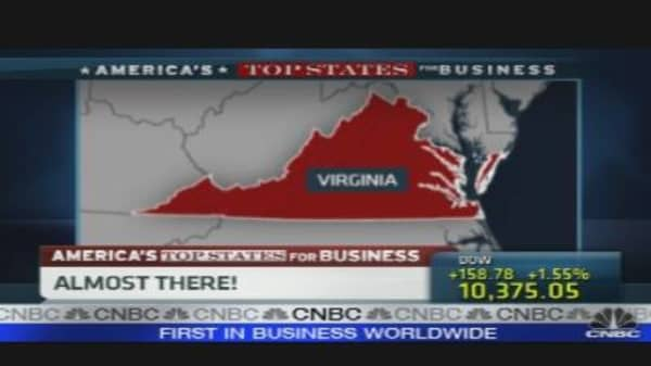 Top States For Business: Virginia Is No. 2