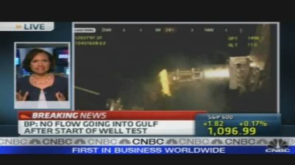 Gulf Oil Flow Brought to Stop