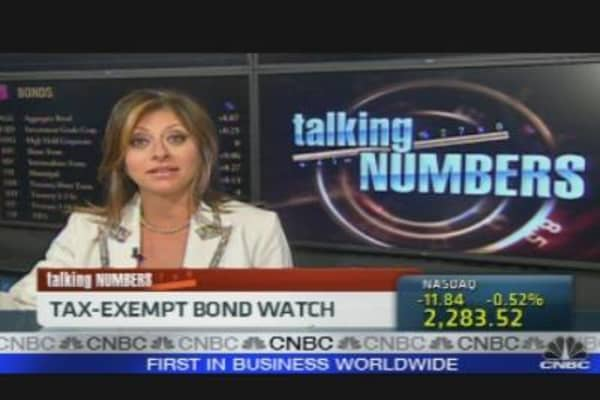 Talking Numbers: Tax Exempt Bond Watch