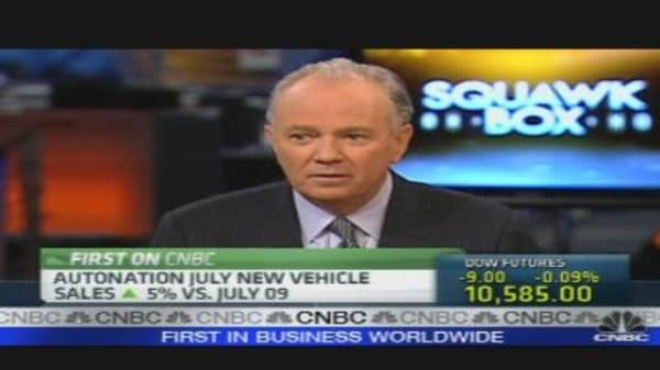 AutoNation July Sales Results
