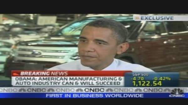Obama on State of US Auto Industry