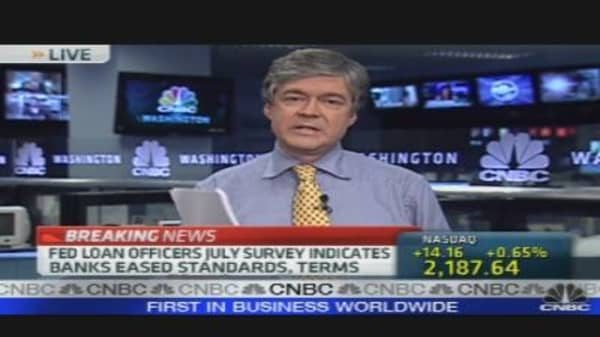 Fed: Lending Conditions Starting to Ease