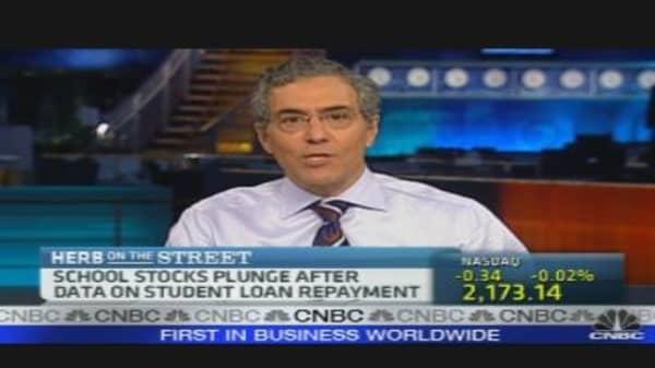 Education Stock Selloff