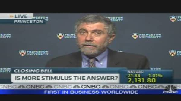 Krugman on Stimulus Package Impact