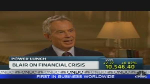 Blair on the Financial Crisis
